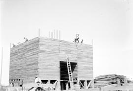 Grain elevator under construction
