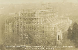 Christ Church Cathedral under construction