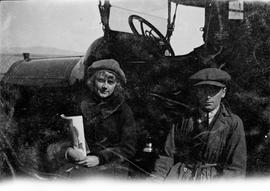 Barbara Hope and Patrick Hope in driving attire
