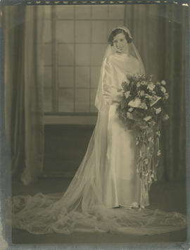 Emily Agnes Underwood (nee Burke) on her wedding day