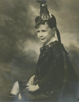Portrait of John Robb Tolmie Andrews as a child