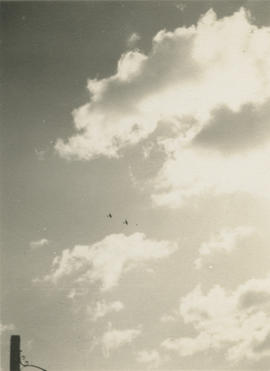 Two Spitfires in the air