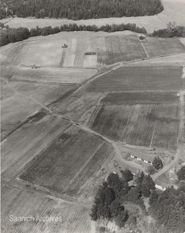 Aerial view of Bill Mattick's farm