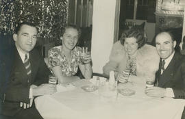 Fred and Helen Wright and Emily and Leslie Underwood at the Lantern Inn