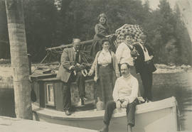 [Group portrait on boat]