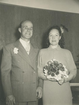 Ghazi and Marion Underwood on their wedding day