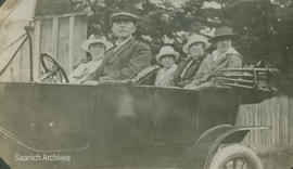 Charles Cameron and family driving on Cordova Bay Road