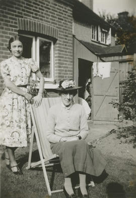 Unidentified woman and Maggie Fearis