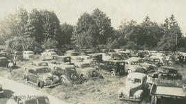 Parking at Cordova Bay for Labour Day Regatta, 1946