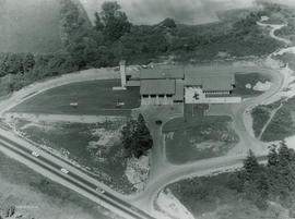 Aerial view of Saanich Police & Fire Hall on completion in 1963