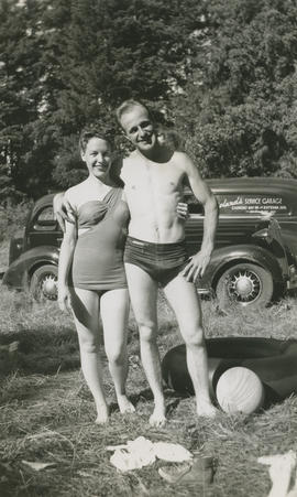 Marion and Ghazi Underwood at Elk Lake