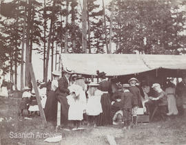 Refreshment tent at Sidney, 1899