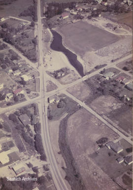 Aerial view of Interurban Road, Marigold Road, and Violet Avenue