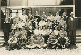 Lansdowne Junior High School class photograph, Div. 2, 1955
