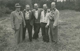 Ernest Brownlow Underwood with sons Vic, Leslie, Ernie, and Ghazi
