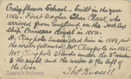 Note by Thomas Russell on Craigflower School