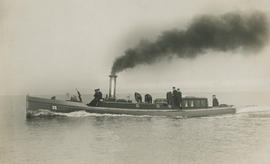 """The Green Parrot"", the steam barge of the Commander-in-Chief of Portsmouth Admiral Sir..."