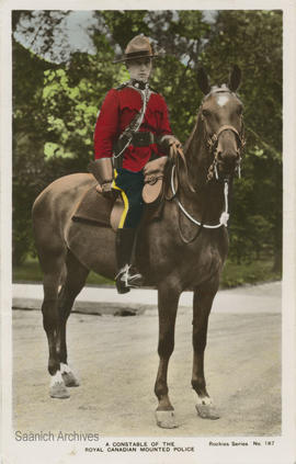 A constable of the Royal Canadian Mounted Police