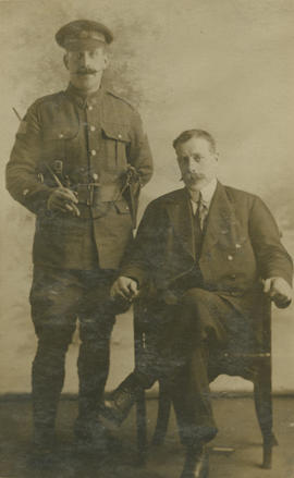 Portrait of WWI soldier and man
