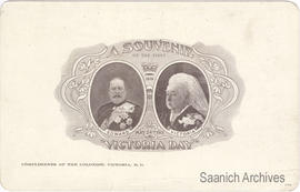 Souvenir postcard of the first Victoria Day, May 24, 1901 depicting Queen Victoria and Edward VII