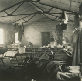 Interior of army hut