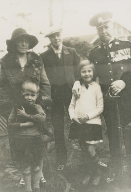 Alice, Leslie H.P., and Ernest Brownlow Underwood (back) with Ghazi and Mena Underwood (front)