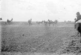 Horse and sulkies [harness racing] in Manitoba