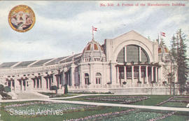 A portion of the Manufacturers Building at the Alaska-Yukon-Pacific Exposition, Seattle, 1909