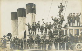 WWI soldiers departing from Victoria