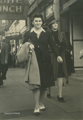 Barbara Dawson (Brown) in downtown Vancouver