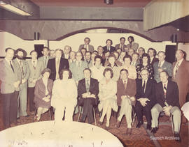 Group portrait taken at a retirement luncheon held for Municipal Solicitor Doug Patterson, Red Li...