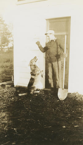Leslie H.P. Underwood and family dog