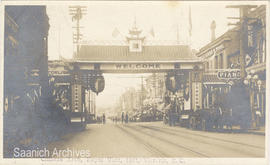 Arch in Chinatown, Victoria, Royal Visit 1912