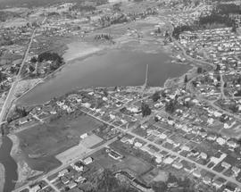 Aerial photo of Panama Flats in flood, 1977