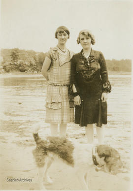 Maude Hall and Betty Stone, Foul Bay, 1930