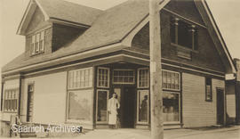 Wm. J. Chave & Son grocery store, exterior, corner of Douglas Street and Boleskine Road