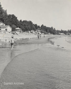 Children playing on the beach, Cordova Bay
