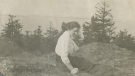 [Woman on Mount Douglas?]