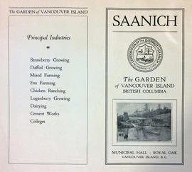 Saanich: the garden of  Vancouver Island, British Columbia: brochure exterior