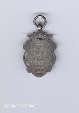 Great War Veterans Association medal (back) awarded to Muggins