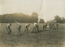 Army manoeuvres, scenes at Horseheath, East Anglia