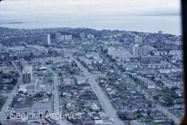 Aerial view of downtown Victoria