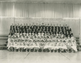 Mount View High School graduation class photograph, 1962