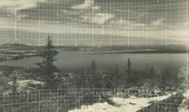 View from Mount Douglas looking towards Salt Spring and James Islands, 1936