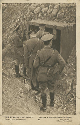 """The King at the Front"" [WWI postcard]"