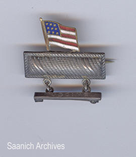 American flag medal awarded to Muggins