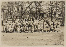 Group of children in costume, Cedar Hill School