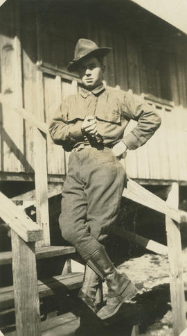 Bert [Burke?] in the American Army, WWI