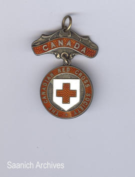 Canadian Red Cross Society medal (front) awarded to Muggins