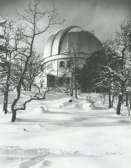 Dominion Astrophysical Observatory in winter